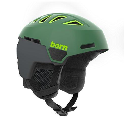 スノーボード ウィンタースポーツ 海外モデル ヨーロッパモデル アメリカモデル SM01D17SLG2 Bern Men's Heist Helmet (Satin Leaf Green with Black Liner, Medium)スノーボード ウィンタースポーツ 海外モデル ヨーロッパモデル アメリカモデル SM01D17SLG2