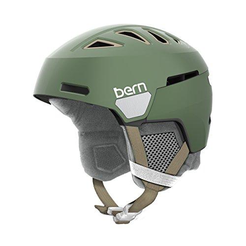 スノーボード ウィンタースポーツ 海外モデル ヨーロッパモデル アメリカモデル Bern BERN Women's Heist Helmet (Satin Metallic Sage Green with Grey Liner, Medium)スノーボード ウィンタースポーツ 海外モデル ヨーロッパモデル アメリカモデル Bern