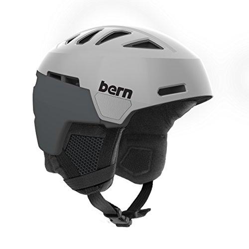 スノーボード ウィンタースポーツ 海外モデル ヨーロッパモデル アメリカモデル SM01D17SGR3 Bern Men's Heist Helmet (Satin Grey with Black Liner, Large)スノーボード ウィンタースポーツ 海外モデル ヨーロッパモデル アメリカモデル SM01D17SGR3