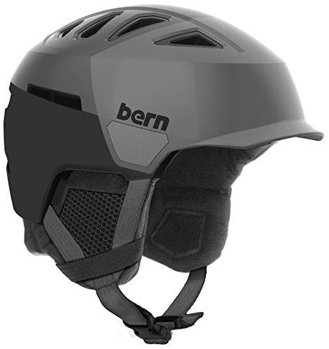 スノーボード ウィンタースポーツ 海外モデル ヨーロッパモデル アメリカモデル SM00D17SGH3 Bern Men's Heist Brim Helmet (Satin Grey Hatstyle with Black Liner, Large)スノーボード ウィンタースポーツ 海外モデル ヨーロッパモデル アメリカモデル SM00D17SGH3