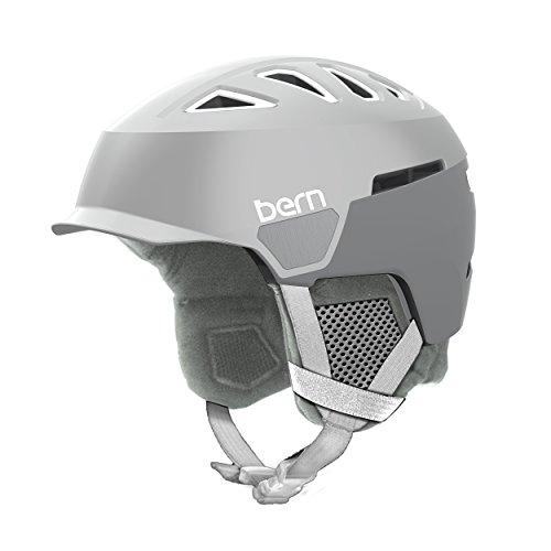 スノーボード ウィンタースポーツ 海外モデル ヨーロッパモデル アメリカモデル SW00D17SDG1 Bern Women's Heist Brim Helmet (Satin Delphin Grey with Grey Liner, Small)スノーボード ウィンタースポーツ 海外モデル ヨーロッパモデル アメリカモデル SW00D17SDG1