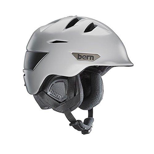 スノーボード ウィンタースポーツ 海外モデル ヨーロッパモデル アメリカモデル SM09ZSLGR01 Bern Men's Kingston Snow Helmet, Satin Light Grey w/Black Liner, L/XLスノーボード ウィンタースポーツ 海外モデル ヨーロッパモデル アメリカモデル SM09ZSLGR01