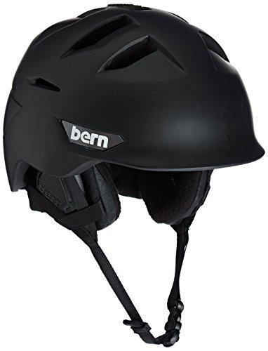 スノーボード ウィンタースポーツ 海外モデル ヨーロッパモデル アメリカモデル SM09ZMBLK01 【送料無料】Bern Men's Kingston Snow Helmet, Matte Black w/Black Linerスノーボード ウィンタースポーツ 海外モデル ヨーロッパモデル アメリカモデル SM09ZMBLK01