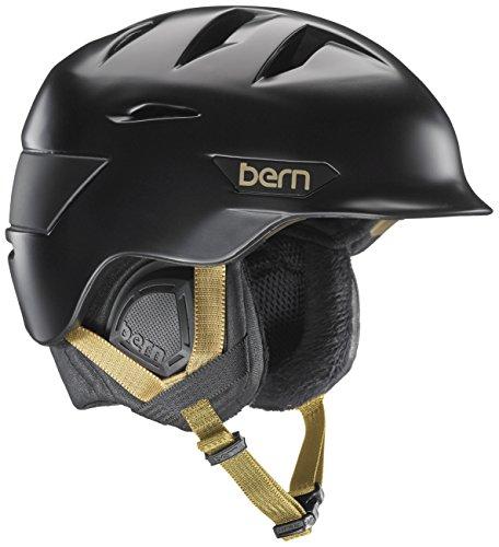 スノーボード ウィンタースポーツ 海外モデル ヨーロッパモデル アメリカモデル Bern Bern Hepburn Snow Helmet - Women's Satin Black/Black Liner Mediumスノーボード ウィンタースポーツ 海外モデル ヨーロッパモデル アメリカモデル Bern