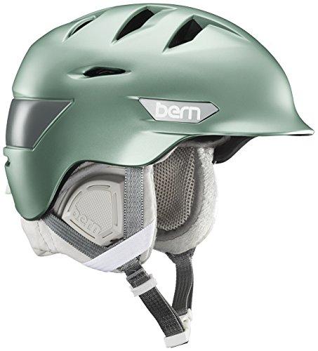 スノーボード ウィンタースポーツ 海外モデル ヨーロッパモデル アメリカモデル Bern BERN Hepburn Snow Helmet - Women's Satin Metallic Sage/Grey Liner Largeスノーボード ウィンタースポーツ 海外モデル ヨーロッパモデル アメリカモデル Bern