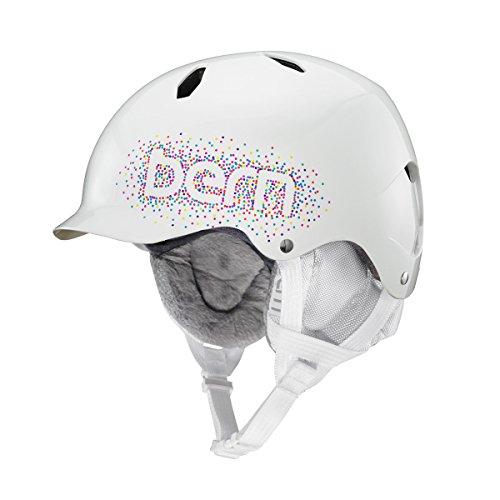 スノーボード ウィンタースポーツ 海外モデル ヨーロッパモデル アメリカモデル BERN Tween Girls' Bandita Snow Helmet Gloss White Confetti M/Lスノーボード ウィンタースポーツ 海外モデル ヨーロッパモデル アメリカモデル