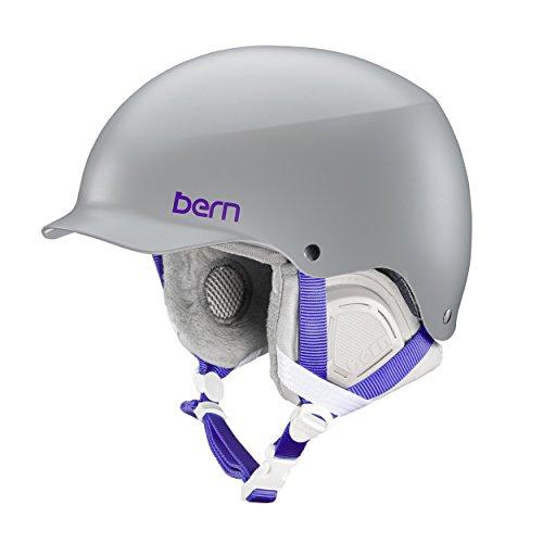スノーボード ウィンタースポーツ 海外モデル ヨーロッパモデル アメリカモデル SW04E17SGR2 BERN Muse Snow Helmet (Satin Grey with Grey Liner, Medium)スノーボード ウィンタースポーツ 海外モデル ヨーロッパモデル アメリカモデル SW04E17SGR2