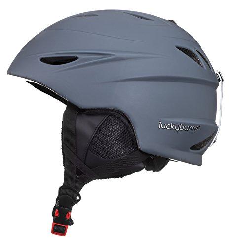 スノーボード ウィンタースポーツ 海外モデル ヨーロッパモデル アメリカモデル 060CHS Lucky Bums Alpine Men Women Audio Chip Ready Ski Helmet, Charcoal, Smallスノーボード ウィンタースポーツ 海外モデル ヨーロッパモデル アメリカモデル 060CHS
