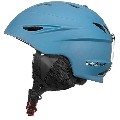 スノーボード ウィンタースポーツ 海外モデル ヨーロッパモデル アメリカモデル 060GBL Lucky Bums Alpine Men Women Audio Chip Ready Ski Helmet, Glacier Blue, Lスノーボード ウィンタースポーツ 海外モデル ヨーロッパモデル アメリカモデル 060GBL