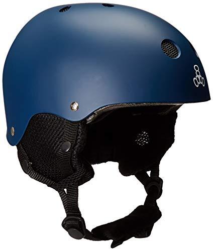 スノーボード ウィンタースポーツ 海外モデル ヨーロッパモデル アメリカモデル 888-04 【送料無料】Triple Eight Standard Snow Helmet (2017 Model), Navy Rubber, X-Smallスノーボード ウィンタースポーツ 海外モデル ヨーロッパモデル アメリカモデル 888-04