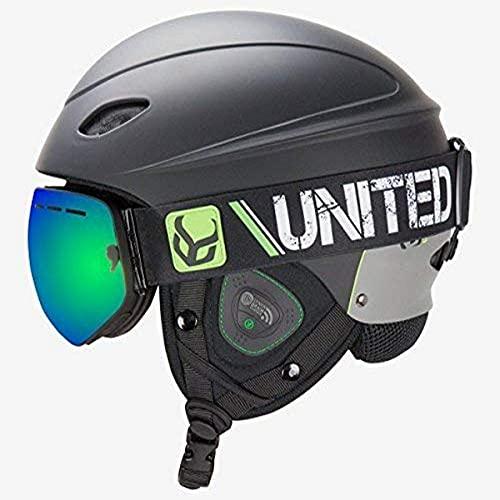 スノーボード ウィンタースポーツ 海外モデル ヨーロッパモデル アメリカモデル DSSMUPASSG Demon United Phantom Helmet with Audio and Snow Supra Goggle (Black, X-Large)スノーボード ウィンタースポーツ 海外モデル ヨーロッパモデル アメリカモデル DSSMUPASSG