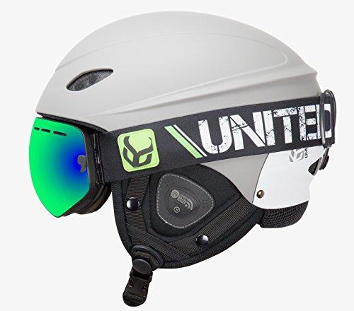 スノーボード ウィンタースポーツ 海外モデル ヨーロッパモデル アメリカモデル phantomgreysupraxl Demon United Phantom Helmet with Audio and Snow Supra Goggle (スノーボード ウィンタースポーツ 海外モデル ヨーロッパモデル アメリカモデル phantomgreysupraxl