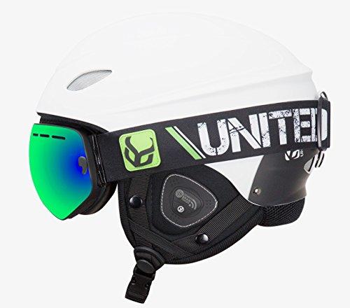 スノーボード ウィンタースポーツ 海外モデル ヨーロッパモデル アメリカモデル ds6603b Phantom Helmet with Audio and Snow Supra Goggle (White, Medium)スノーボード ウィンタースポーツ 海外モデル ヨーロッパモデル アメリカモデル ds6603b
