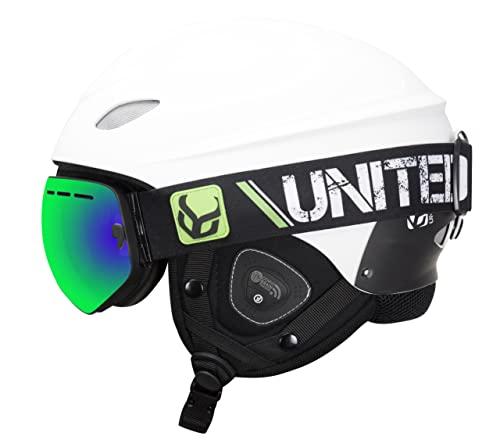 スノーボード ウィンタースポーツ 海外モデル ヨーロッパモデル アメリカモデル ds6603a Phantom Helmet with Audio and Snow Supra Goggle (White, Large)スノーボード ウィンタースポーツ 海外モデル ヨーロッパモデル アメリカモデル ds6603a