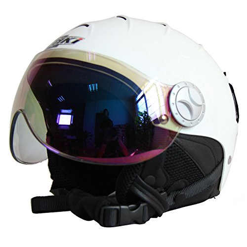 スノーボード ウィンタースポーツ 海外モデル ヨーロッパモデル アメリカモデル NENKI 海外モデル アメリカモデル Helmets White,Mirror NK-2012 Ski Helmet with Visor (Glossy White,Mirror Visor, Small)スノーボード ウィンタースポーツ 海外モデル ヨーロッパモデル アメリカモデル, ainahaina:feca77c9 --- sunward.msk.ru