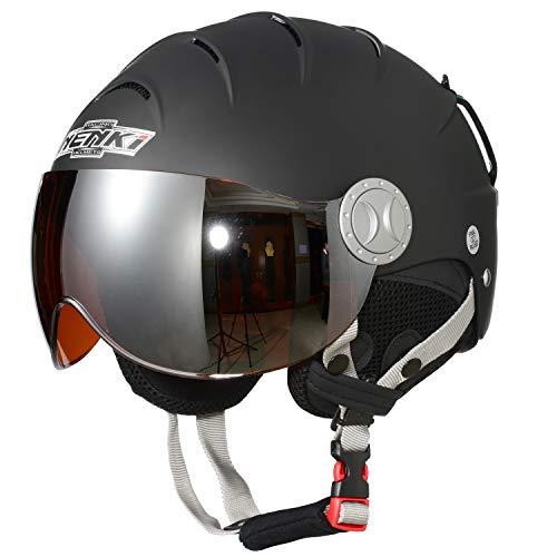 スノーボード ウィンタースポーツ 海外モデル ヨーロッパモデル アメリカモデル NENKI Helmets NK-2012 Ski Helmet with Visor (Matt Black,Orange Visor, Medium 22-22.5INCH)スノーボード ウィンタースポーツ 海外モデル ヨーロッパモデル アメリカモデル