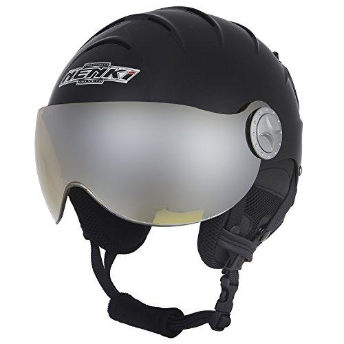 スノーボード ウィンタースポーツ 海外モデル 海外モデル ヨーロッパモデル アメリカモデル NENKI Visor Helmets NK-2012 Visor, Ski Helmet with Visor (Matt Black,Yellow Visor, Large 57CM)スノーボード ウィンタースポーツ 海外モデル ヨーロッパモデル アメリカモデル, ユニフォーム工房 フレンド:a0a37200 --- sunward.msk.ru