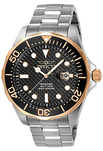 インヴィクタ インビクタ プロダイバー 腕時計 メンズ 12567 Invicta Men's 12567 Pro Diver Black Carbon Fiber Dial Stainless Steel Watchインヴィクタ インビクタ プロダイバー 腕時計 メンズ 12567