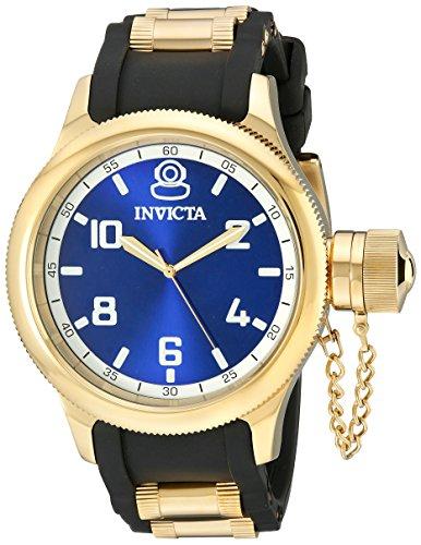 インヴィクタ インビクタ 腕時計 メンズ 1437 【送料無料】Invicta Men's 1437 Russian Diver Blue Dial Black Polyurethane Watchインヴィクタ インビクタ 腕時計 メンズ 1437