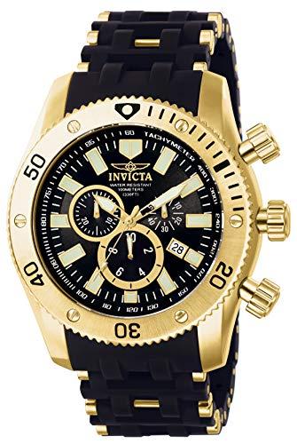 インヴィクタ インビクタ シースパイダー 腕時計 メンズ 0140 【送料無料】Invicta Men's 0140 Sea Spider Collection 18k Gold Ion-Plated and Black Polyurethane Watchインヴィクタ インビクタ シースパイダー 腕時計 メンズ 0140