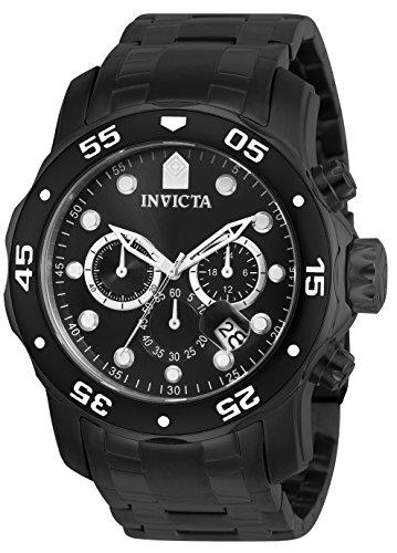 インヴィクタ インビクタ プロダイバー 腕時計 メンズ 0076 【送料無料】Invicta Men's 0076 Pro Diver Collection Chronograph Black Ion-Plated Stainless Steel Watchインヴィクタ インビクタ プロダイバー 腕時計 メンズ 0076