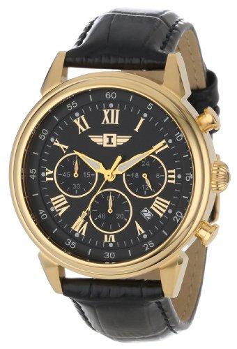腕時計 インヴィクタ インビクタ メンズ 90242-003 【送料無料】Invicta Men's 90242-003 Invicta I 18k Gold-Plated Stainless Steel Watch with Black Leather Band腕時計 インヴィクタ インビクタ メンズ 90242-003