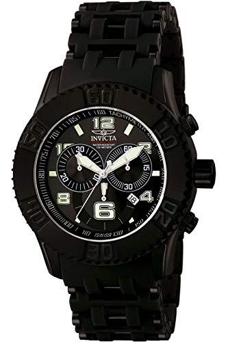 腕時計 インヴィクタ インビクタ シースパイダー メンズ 6713 【送料無料】Invicta Men's 6713 Sea Spider Collection Chronograph Black Ion-Plated Stainless Steel Watch腕時計 インヴィクタ インビクタ シースパイダー メンズ 6713