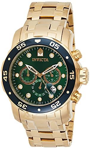 インヴィクタ インビクタ プロダイバー 腕時計 メンズ 0075 【送料無料】Invicta Men's 0075 Pro Diver Chronograph 18k Gold-Plated Watchインヴィクタ インビクタ プロダイバー 腕時計 メンズ 0075