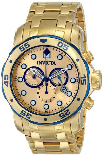 インヴィクタ インビクタ プロダイバー 腕時計 メンズ 80069 【送料無料】Invicta Mens Pro Diver Scuba Swiss Chronograph 18k Gold Plated Stainless Steel Watch 80069インヴィクタ インビクタ プロダイバー 腕時計 メンズ 80069