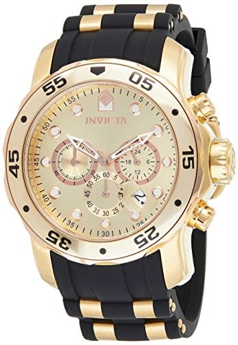 インヴィクタ インビクタ プロダイバー 腕時計 メンズ 17884 【送料無料】Invicta Men's 17884 Pro Diver 18k Gold Ion-Plated Stainless Steel Chronograph Watchインヴィクタ インビクタ プロダイバー 腕時計 メンズ 17884