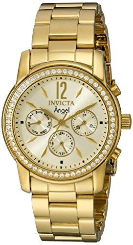 インヴィクタ インビクタ エンジェル 腕時計 レディース 11770 Invicta Women's 11770 Angel Gold Dial 18k Gold Ion-Plated Stainless Steel Watchインヴィクタ インビクタ エンジェル 腕時計 レディース 11770