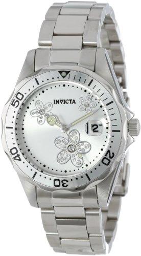 インヴィクタ インビクタ プロダイバー 腕時計 レディース 12506 Invicta Women's 12506 Pro Diver Silver Dial Crystal Accented Stainless Steel Watchインヴィクタ インビクタ プロダイバー 腕時計 レディース 12506
