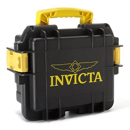 腕時計 インヴィクタ インビクタ メンズ DC3BLK/YEL 【送料無料】Invicta DC3BLK/YEL Collectors 3 Slot Divers Case, Black/ Yellow腕時計 インヴィクタ インビクタ メンズ DC3BLK/YEL