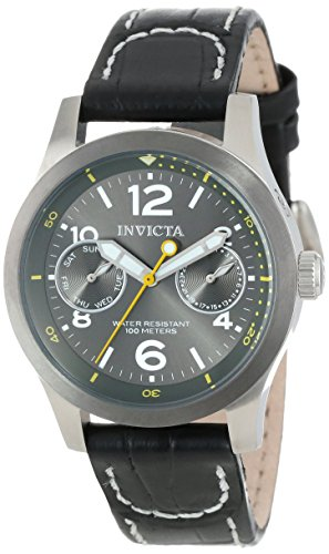 インヴィクタ インビクタ フォース 腕時計 レディース 14144 Invicta Women's 14144 I-Force Charcoal Grey Dial Black Leather Watchインヴィクタ インビクタ フォース 腕時計 レディース 14144