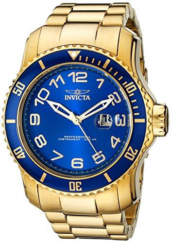 インヴィクタ インビクタ プロダイバー 腕時計 メンズ 15347 【送料無料】Invicta Men's 15347 Pro Diver Blue and Yellow Gold-Tone Stainless Steel Watchインヴィクタ インビクタ プロダイバー 腕時計 メンズ 15347