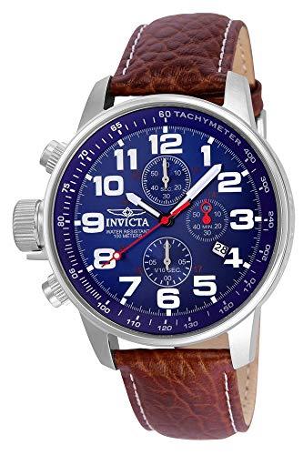インヴィクタ インビクタ フォース 腕時計 メンズ 3328 【送料無料】Invicta Men's 3328 Force Collection Stainless Steel Left-Handed Watch with Leather Band, Brown/Blue Dialインヴィクタ インビクタ フォース 腕時計 メンズ 3328