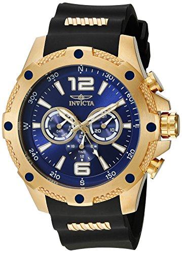 インヴィクタ インビクタ フォース 腕時計 メンズ 19659 【送料無料】Invicta Men's 19659 I-Force 18k Gold Ion-Plated Watch with Black Polyurethane Bandインヴィクタ インビクタ フォース 腕時計 メンズ 19659