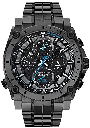 【送料無料】ブローバ Bulova プレシジョニスト メンズ腕時計 98B229 ケース直径46mm クロノグラフ バンドカラー:グレー
