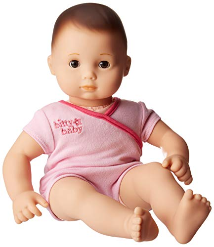 アメリカンガールドール 赤ちゃん おままごと ベビー人形 【送料無料】American Girl - Bitty Baby Doll Light Skin Dark Brown Hair Brown Eyes BB2 with Pink Bodysuitアメリカンガールドール 赤ちゃん おままごと ベビー人形