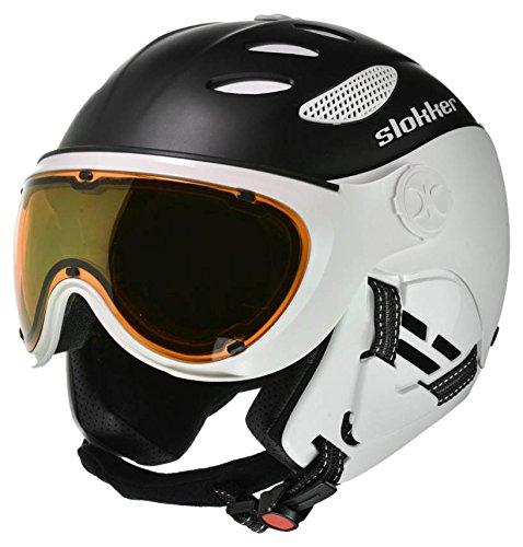 スノーボード ウィンタースポーツ 海外モデル ヨーロッパモデル アメリカモデル 07912-1 Slokker Balo Helmet - Black/White - 55-57スノーボード ウィンタースポーツ 海外モデル ヨーロッパモデル アメリカモデル 07912-1