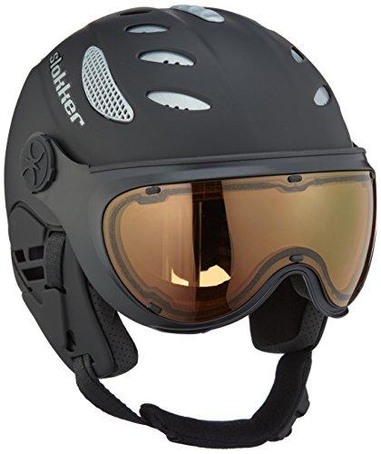 スノーボード ウィンタースポーツ 海外モデル ヨーロッパモデル アメリカモデル 07613-1 Slokker Raider Ski Helmet with Attached Photochromatic Polarizing Goggles (Black, 55スノーボード ウィンタースポーツ 海外モデル ヨーロッパモデル アメリカモデル 07613-1