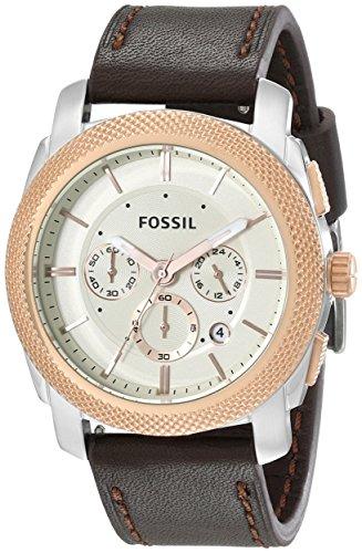 フォッシル 腕時計 メンズ FS5040 Fossil Men's FS5040 Machine Two-Tone Stainless Steel Watch with Brown Leather Bandフォッシル 腕時計 メンズ FS5040