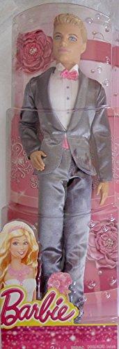 バービー バービー人形 ケン Ken 【送料無料】Barbie KEN DOLL as GROOM w Shimmery Gray SUIT (2014)バービー バービー人形 ケン Ken