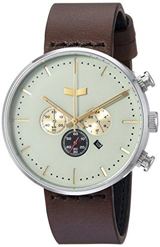 ベスタル ヴェスタル 腕時計 メンズ RSC42L01.DB Vestal Roosevelt Chrono Leather Stainless Steel Quartz Watch with Strap, Brown, 20 (Model: RSC42L01.DB)ベスタル ヴェスタル 腕時計 メンズ RSC42L01.DB