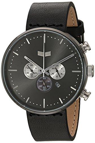 ベスタル ヴェスタル 腕時計 メンズ RSC42L05.BK Vestal Roosevelt Chrono Leather Stainless Steel Quartz Watch with Strap, Black, 20 (Model: RSC42L05.BKベスタル ヴェスタル 腕時計 メンズ RSC42L05.BK