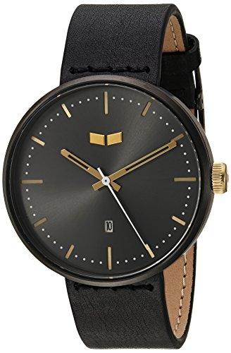 ベスタル ヴェスタル 腕時計 メンズ RS42L09.BK Vestal Roosevelt Italian Leather Stainless Steel Quartz Watch with Calfskin Strap, Black, 20 (Model: RS42L09.BKベスタル ヴェスタル 腕時計 メンズ RS42L09.BK