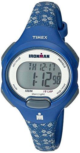 タイメックス 腕時計 レディース TW5M07100 【送料無料】Timex Women's TW5M07100 Ironman Essential 10 Mid-Size Blue Floral Resin Strap Watchタイメックス 腕時計 レディース TW5M07100