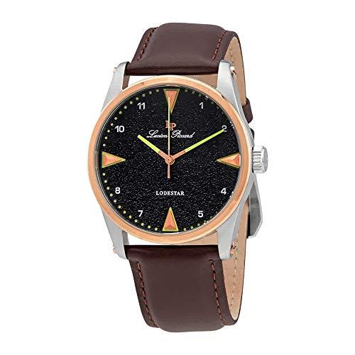 ルシアンピカール 腕時計 メンズ 【送料無料】Lucien Piccard Lodestar Grey Dial Men's Watch 40035-014-RB-BRWルシアンピカール 腕時計 メンズ