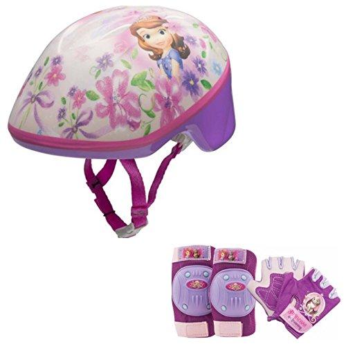ちいさなプリンセス ソフィア ディズニージュニア Disney Sofia the First Princess Girls Skate / Bike Helmet, Pads & Gloves - 7 Piece Setちいさなプリンセス ソフィア ディズニージュニア