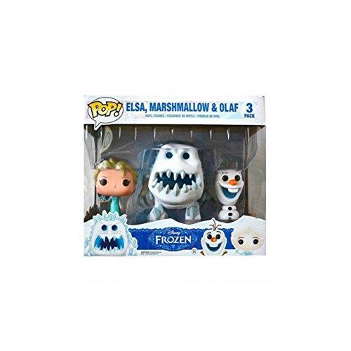 アナと雪の女王 アナ雪 ディズニープリンセス フローズン JJL141010 Funko Disney Frozen POP! Movies Elsa, Marshmallow & Olaf Vinyl Figures #82アナと雪の女王 アナ雪 ディズニープリンセス フローズン JJL141010